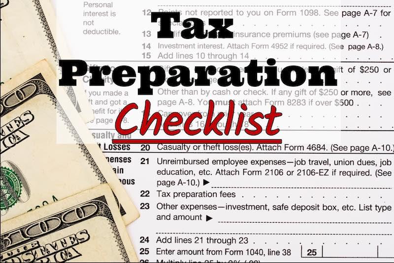 Edwin Casanova CPA PC's 2017 Tax Preparation Checklist